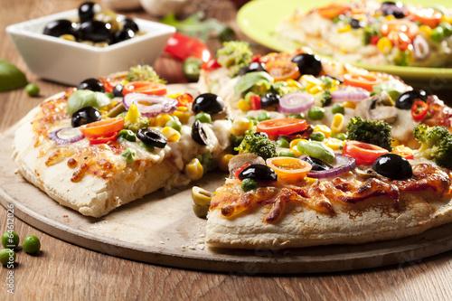 Wall Murals Pizzeria Pizza vegetarian