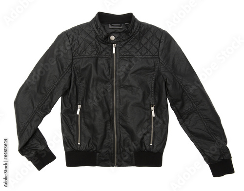 Black leather jacket Wall mural