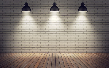 Fototapetaroom with lamps