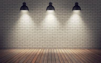 Panel Szklany Podświetlane Do przedpokoju room with lamps