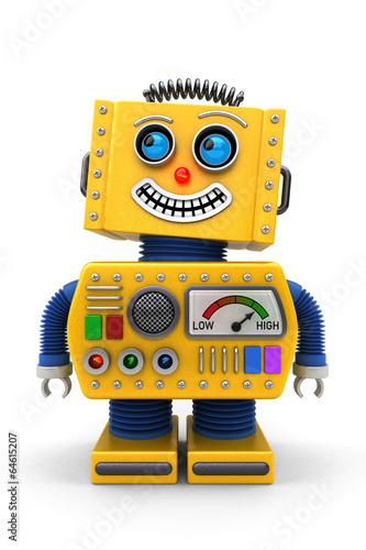 Smiling toy robot