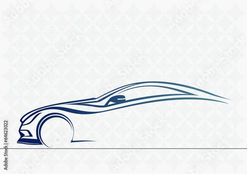 Plakat  Spor otomobil serisi 6