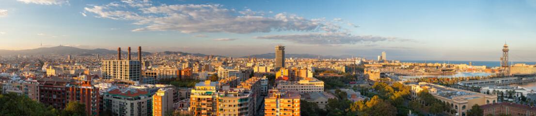 Fototapeta Barcelona Panorama di Barcellona, Spagna