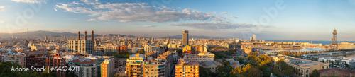 Panorama di Barcellona, Spagna - 64624211