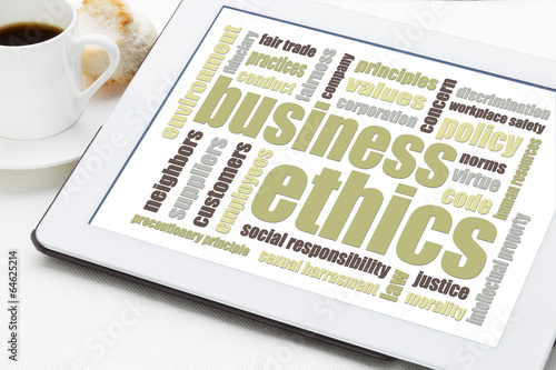 Fototapety, obrazy: business ethics word cloud