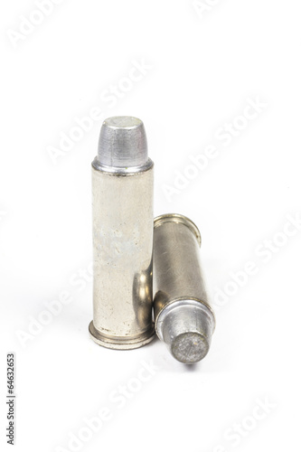 Poster bullets for 38 revolver hand gun .
