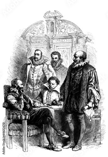 Fototapeta French King : Henri IV & his Ministers - 16th century
