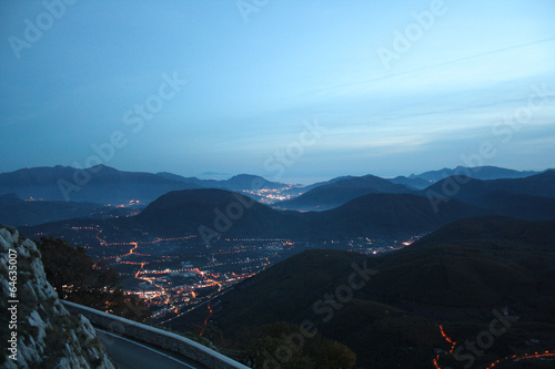 Avellino, panorama da Montevergine Wallpaper Mural