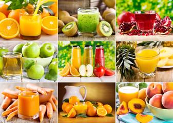 Fototapeta various juice
