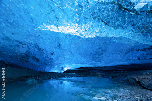 Poster Glaciers Blue ice cave