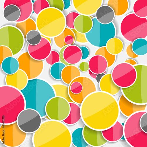 abstrakcjonistyczna-glansowana-okregu-tla-wektoru-ilustracja