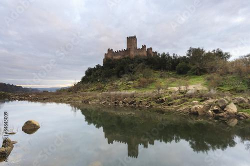 Fotografie, Obraz  Castelo de Almourol no Rio Tejo