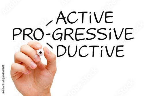 Fotografie, Obraz  Proactive Progressive Productive