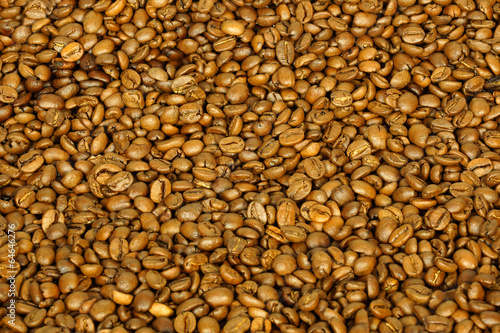 golden coffee beans for background and texture #64646276