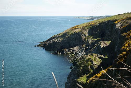Canvas-taulu Cliffwalking Between Bray and Greystones, Ireland