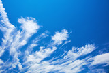 Abstract feather clouds