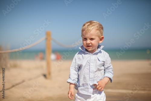 Fotografie, Obraz  niño en la playa