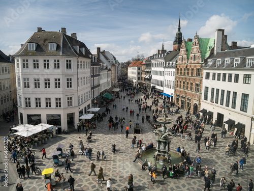 Photo  Amagertorv - central square in Copenhagen, Denmark