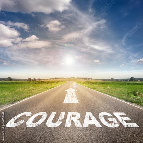 """Fotografie, Obraz  Street with """"Courage"""""""