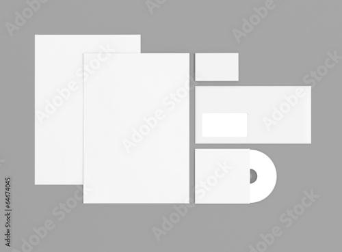 Kuvert Briefpapier Cd Visitenkarte Hintergrund Grau Buy