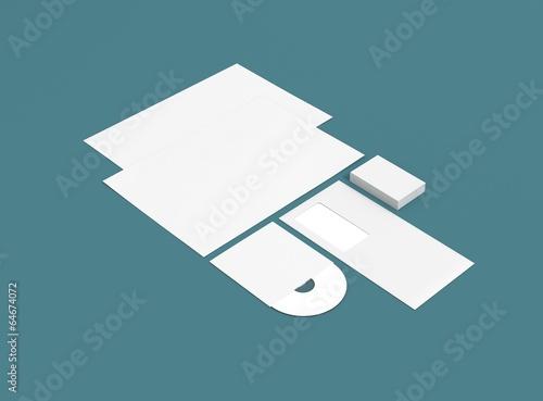 Kuvert Briefpapier Cd Visitenkarte Hintergrund Blau Buy