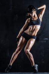 Panel Szklany Do klubu fitness / siłowni Sexy babe