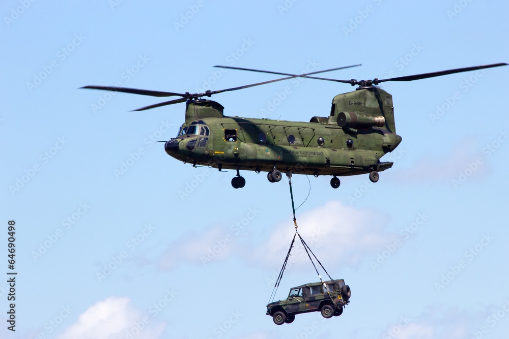 Leinwandbild Motiv - VanderWolf Images : Chinook helicopter