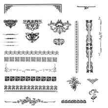 Arabesques, Séparateurs Et Cadres Vintage