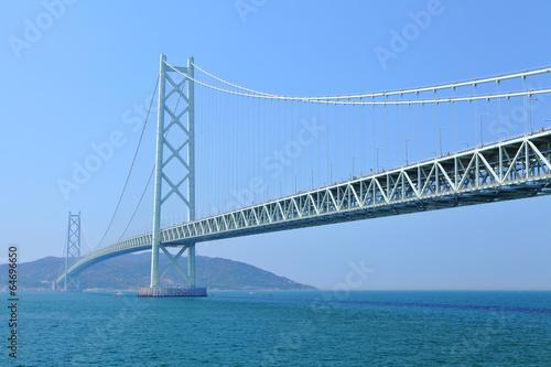 Fotobehang Brug Akashi Kaikyo bridge