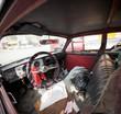 Interior of an old car, Peru