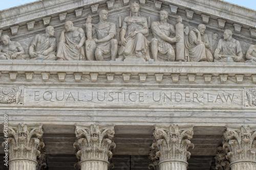 Washington DC Supreme Court facade Poster