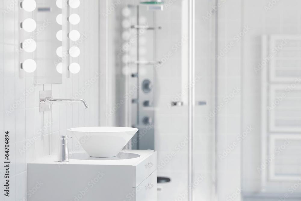 Photo Art Print Waschbecken In Einem Modernen Bad Europosters