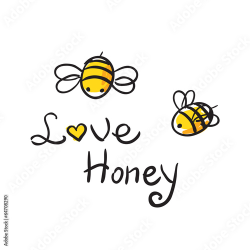 Fotografie, Obraz  Bee Love honey