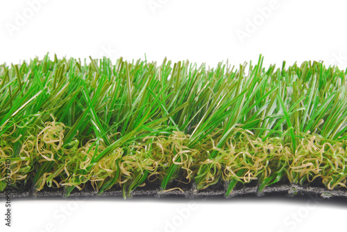 artificial astroturf grass  samples isolated on white Canvas Print