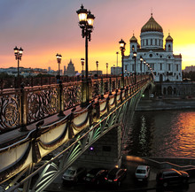Russia, Moscow, Cathedral Of Christ The Savior Cathedral