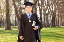 Proud University Dean Posing In A Park