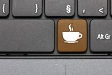 Coffee Break. Brown Hot Key On...