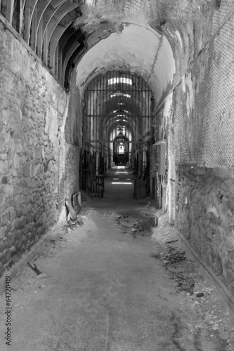 Fotografia, Obraz  Old Jail in Black and White