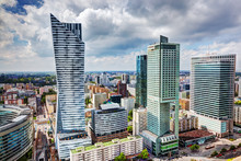 Warsaw, Poland. Downtown Busin...