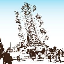 Zipper Amusement Park Ride