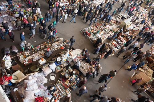 Fotografía  Vista superior del mercado de pulgas Encants Vells