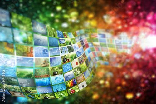 Fotografie, Obraz  Collage of images background