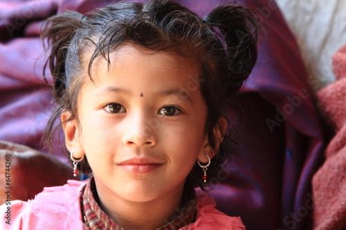 Fotografie, Obraz  Mädchen aus Nepal