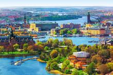 Aerial Panorama Of Stockholm, ...