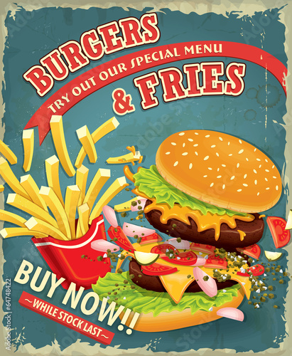 vintage-hamburgery-z-frytkami-ustawic-projekt-plakatu