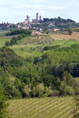 Fototapeta na wymiar Italie > Toscane > San Gimignano
