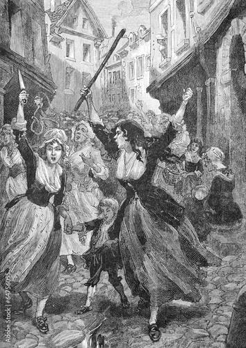 Fotografija la révolte des femmes, ancienne gravure vers 1890
