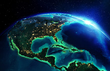 Land Area In North America The...