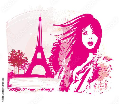 In de dag Regenboog portrait of a beautiful girl in Paris