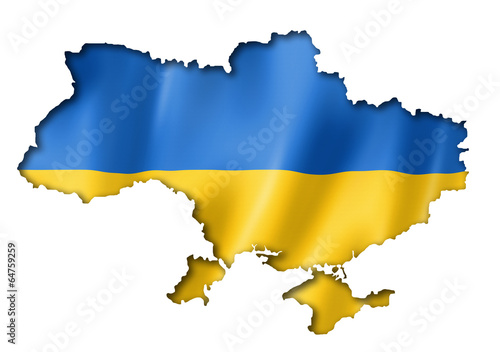Fotografie, Obraz Ukrainian flag map